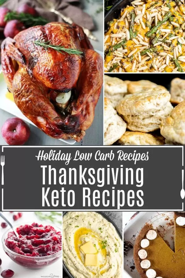 Pinterest image for Low Carb Thanksgiving Recipes with title text