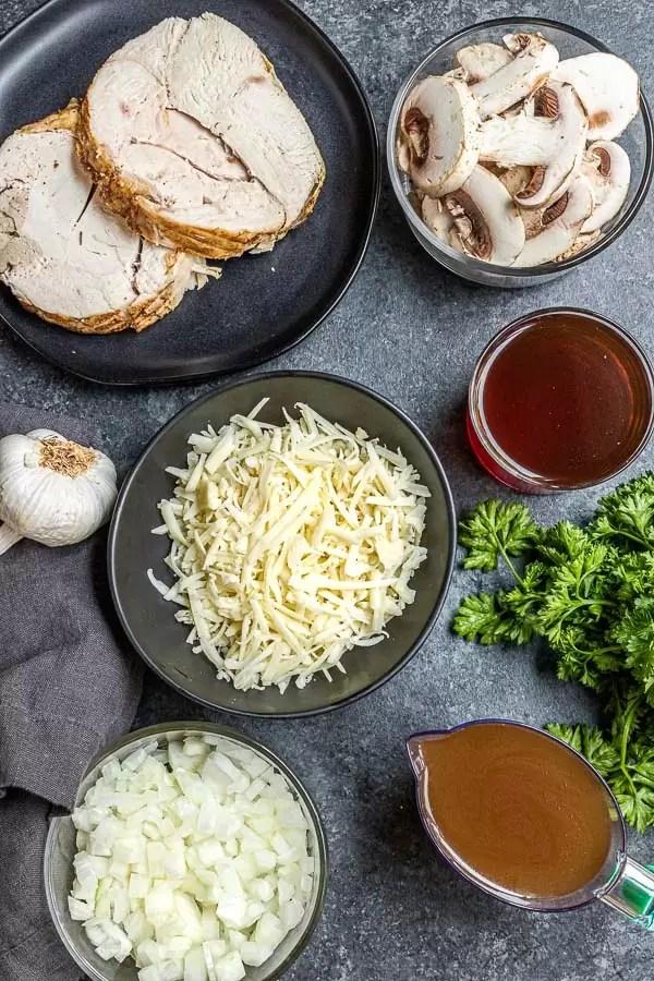 Turkey Marsala ingredients