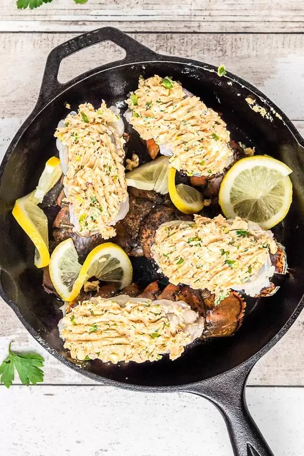 Broiled Lobster Tail topped with seasoned butter