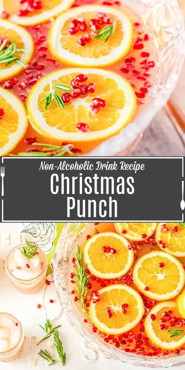 Pinterest image of Christmas Punch with title text