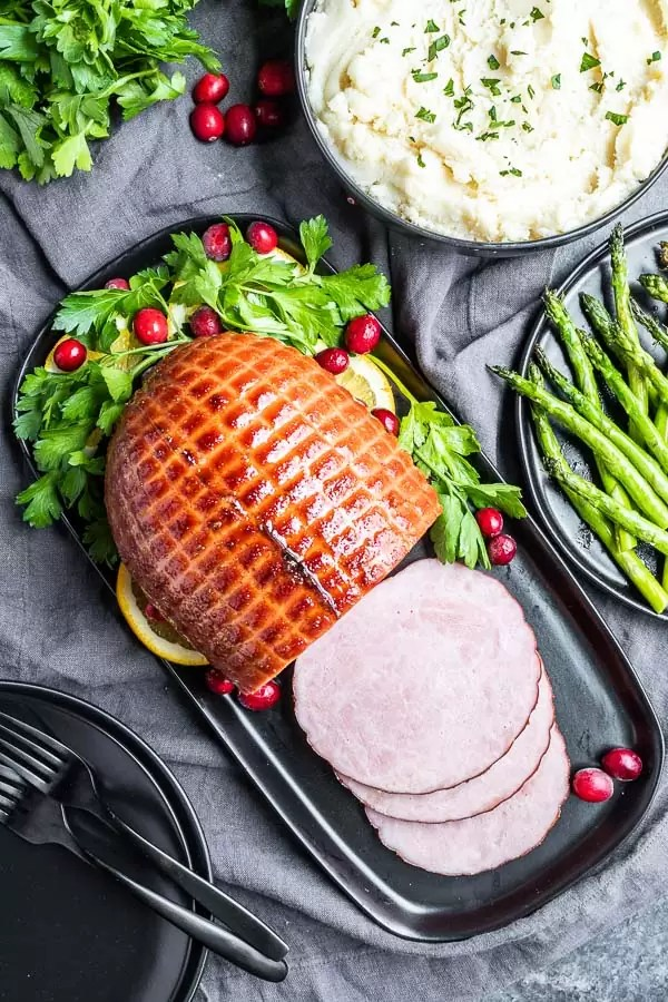 serving Instant Pot Ham for the holidays