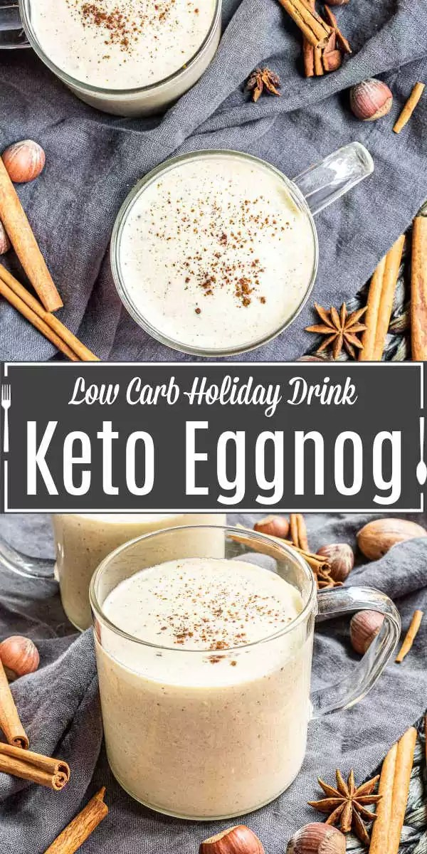 Pinterest image for Keto Eggnog with title text