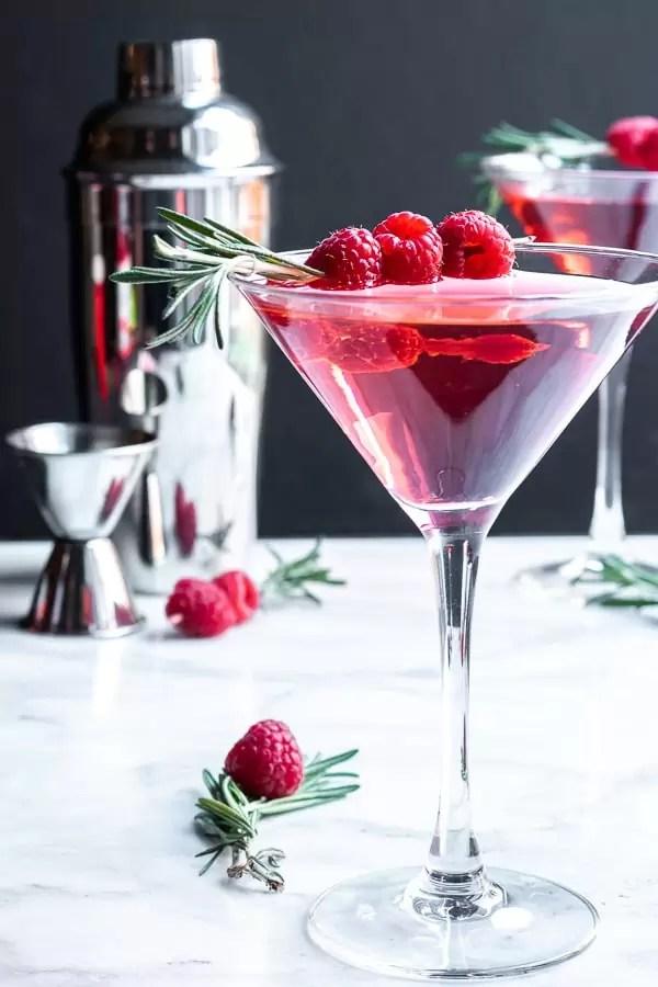 holiday Raspberry Martini