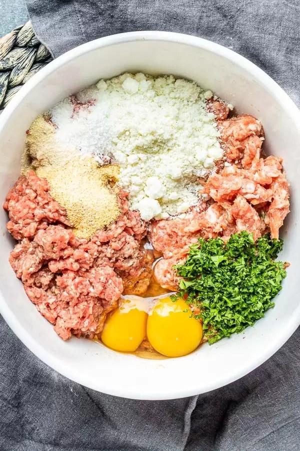 Air Fryer Meatballs ingredients
