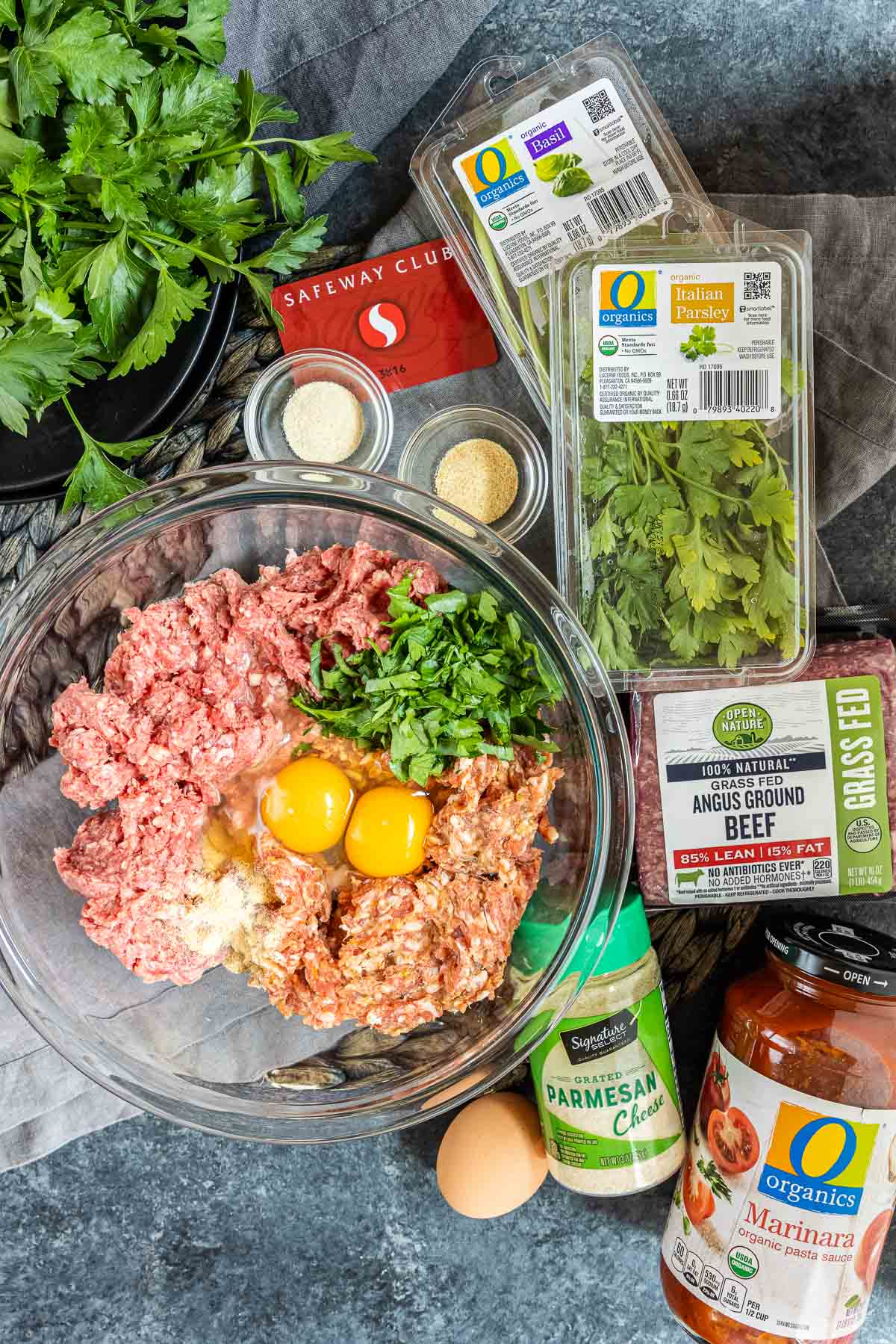 ingredients for Instant Pot Meatballs from Safeway