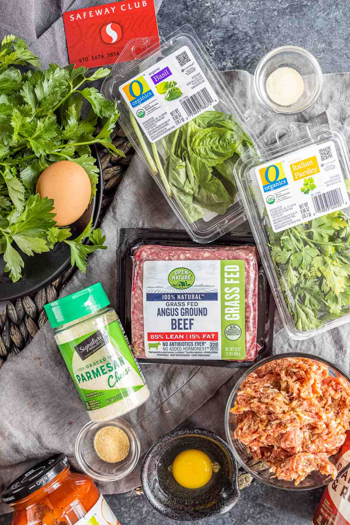 ingredients to make Instant Pot Meatballs from Safeway