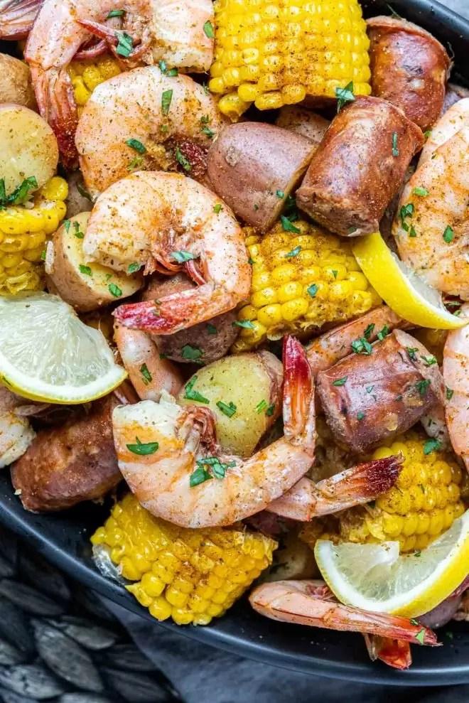 Instant Pot Shrimp Boil with sausage and corn
