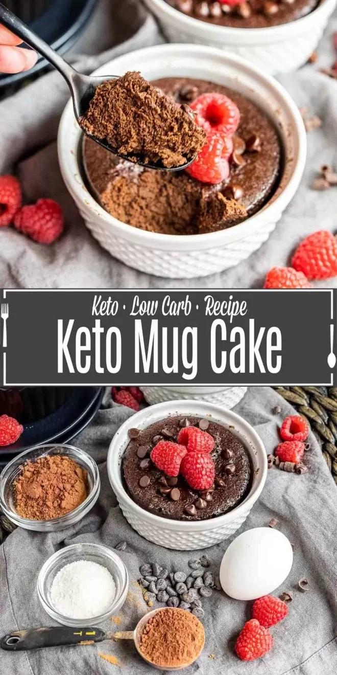 Pinterest image for Keto Mug Cake with title text