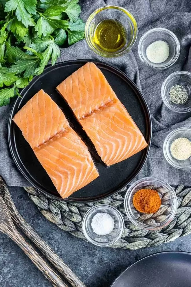ingredients to make Air Fryer Salmon