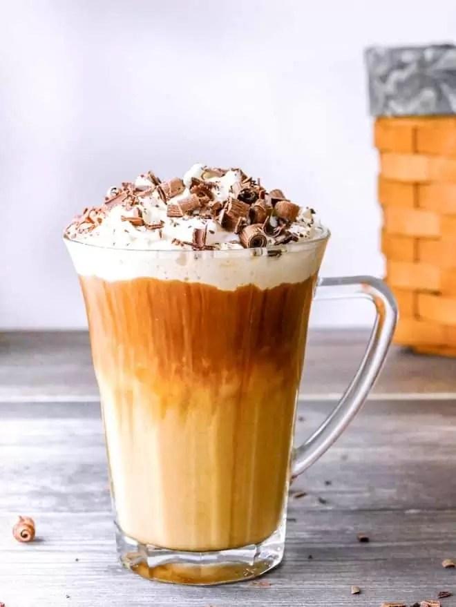 Bailey's Irish Coffee topped with whip cream
