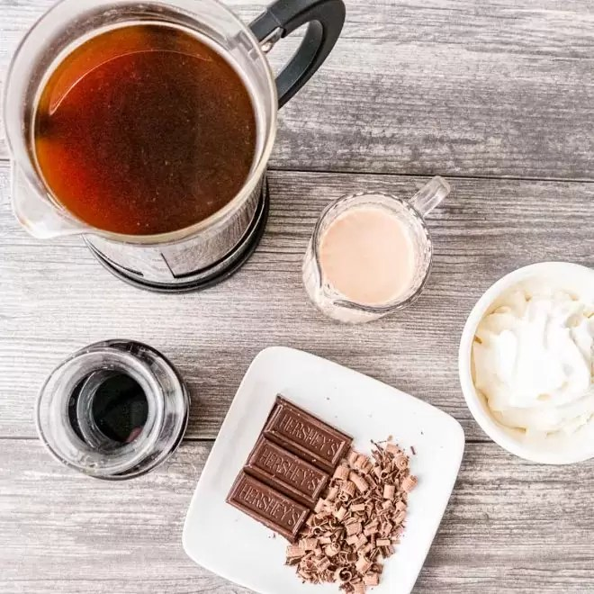 ingredients for Bailey's Irish Coffee