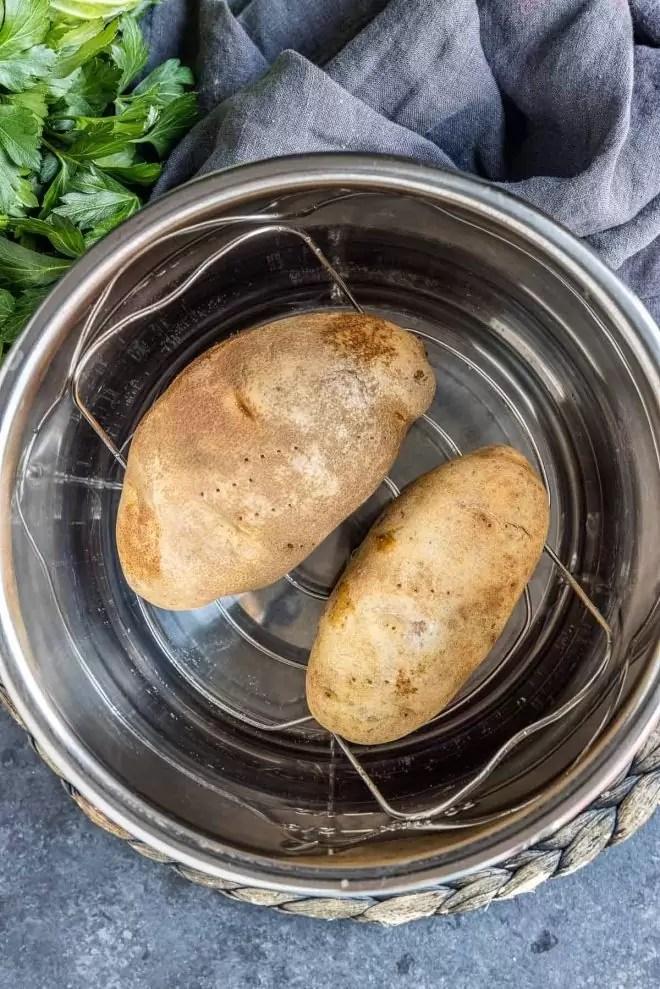 Instant Pot Baked Potatoes in instant pot