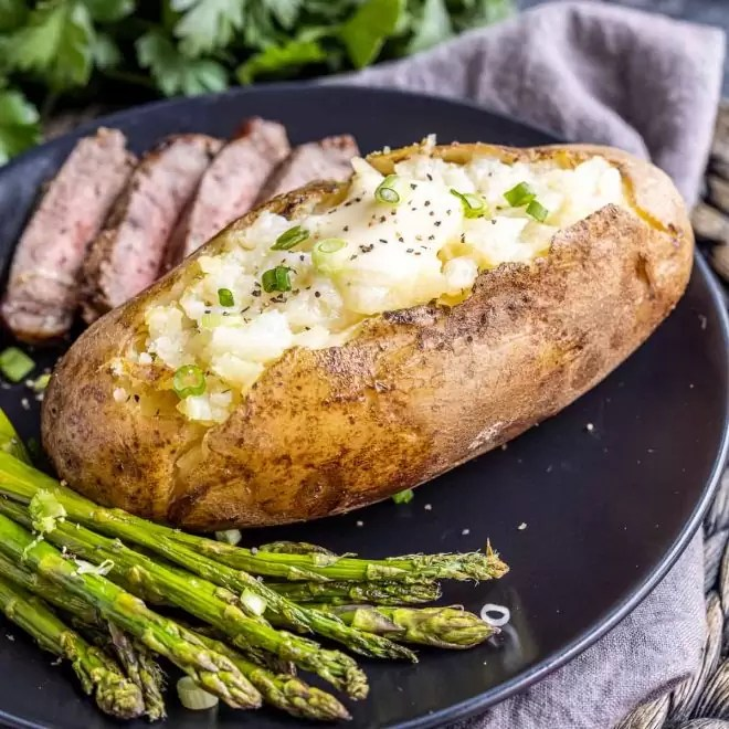 Instant Pot Baked Potatoes with butter