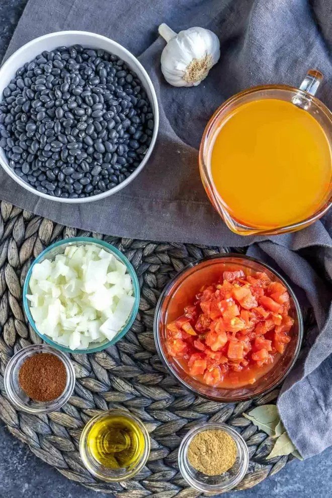 ingredients for Instant Pot Black Beans