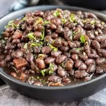 a bowl of Instant Pot Black Beans