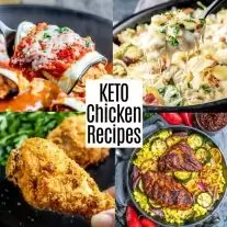 Pinterest image for Keto Chicken Recipes with title text