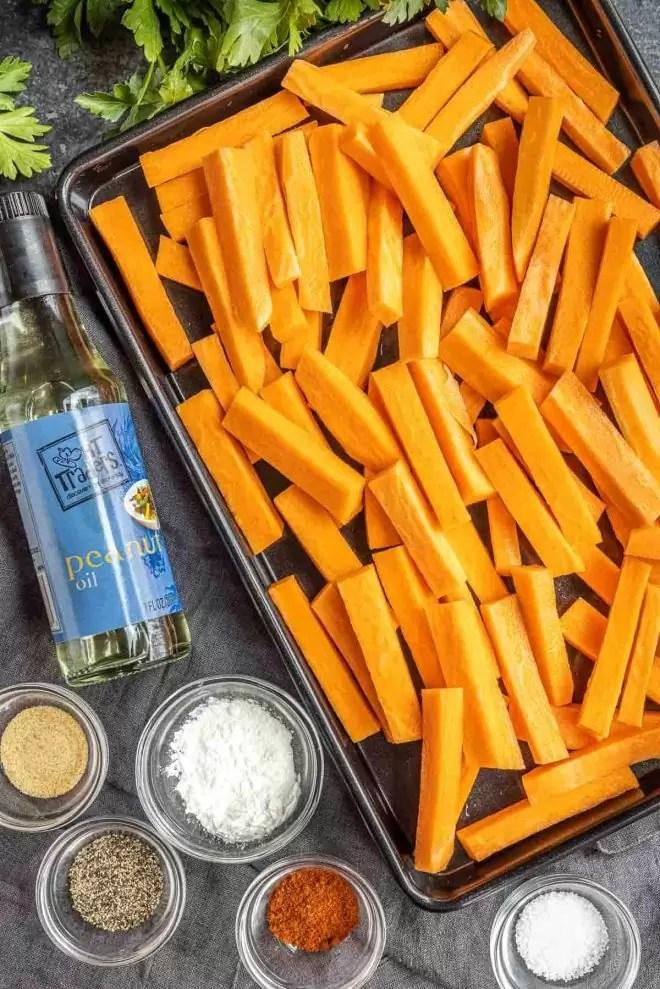 how to make crispy Air Fryer Sweet Potato Fries