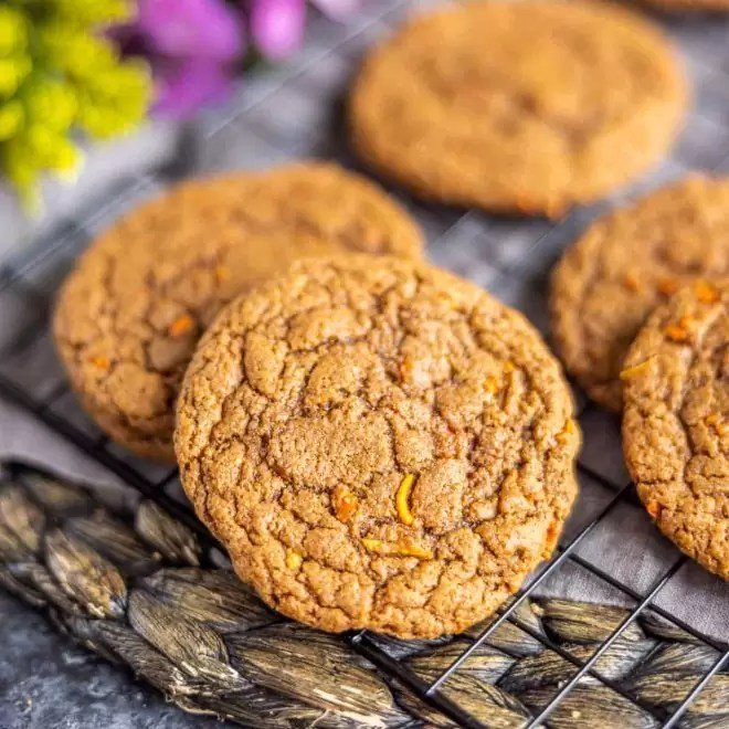 Carrot Cake Mix Cookies made with fresh carrots