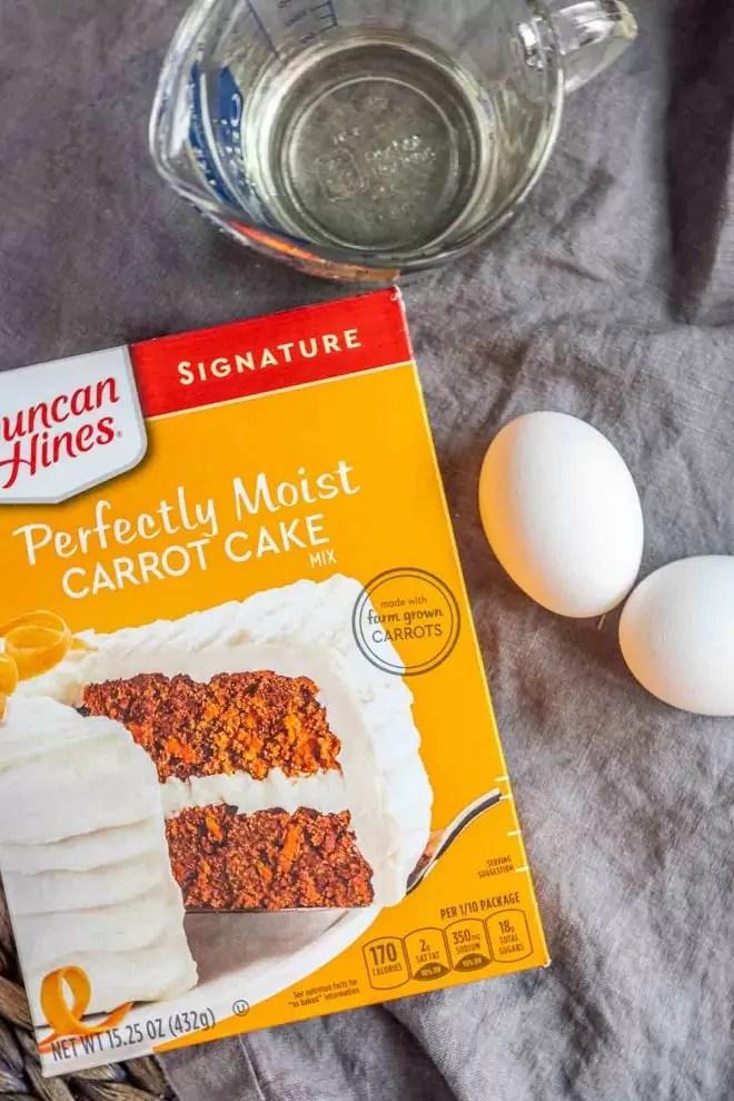how to make Carrot Cake Mix Cookies