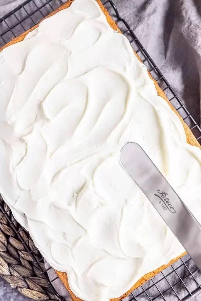 frosting Coconut Sheet Cake