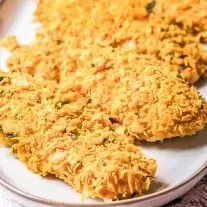 Cornflake Chicken tenders on a plate