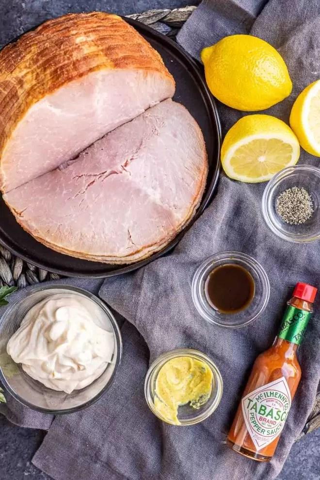 Ingredients for deviled ham
