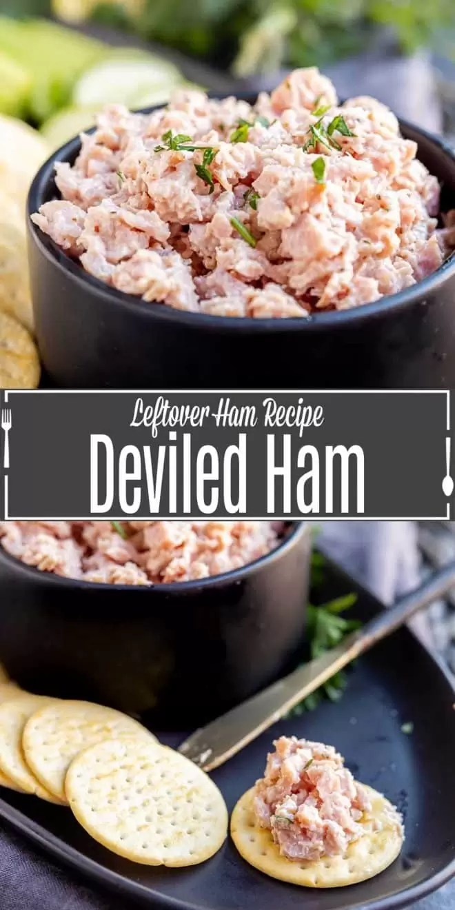 Pinterest image of Deviled Ham with title text
