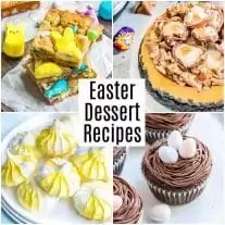 Pinterest image of Easter Dessert Recipes with title text