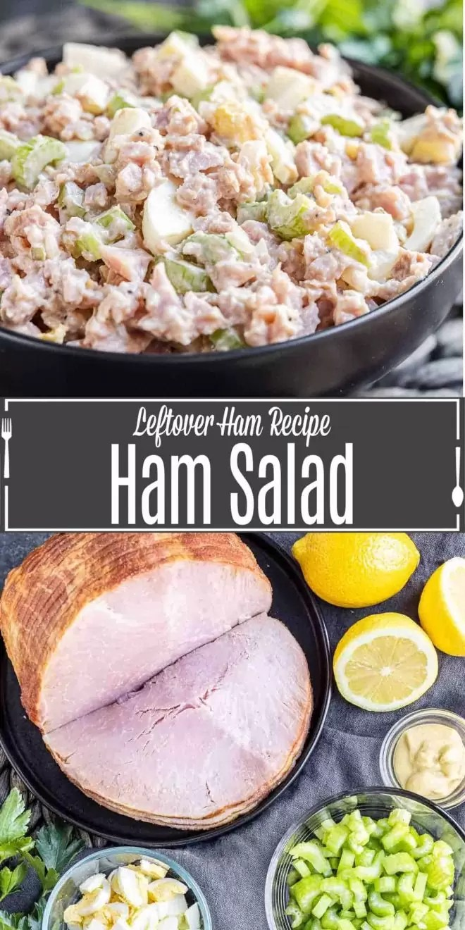 Pinterest image of Ham Salad with title text
