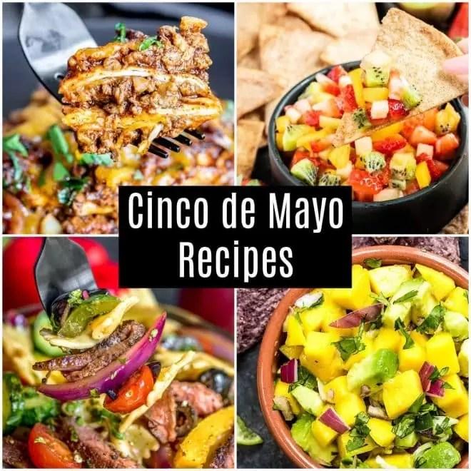 Collage of Cinco de Mayo recipes