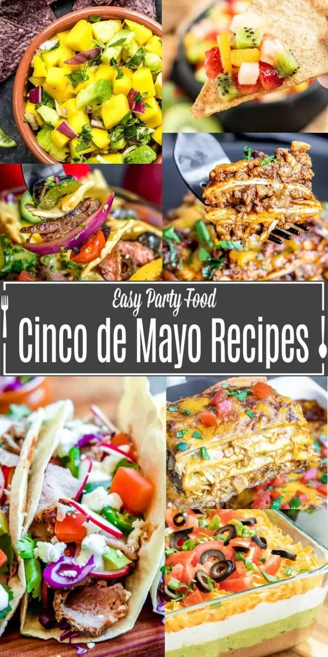 Pinterest image for Cinco de Mayo Recipes with title text