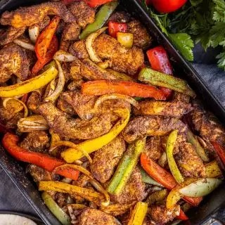 Oven Chicken Fajitas in less than 30 minutes