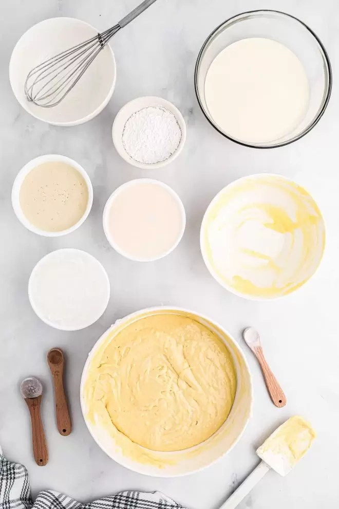 ingredients for Tres Leches Cake