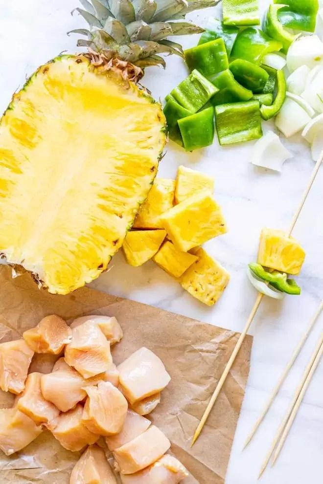 Grilled Teriyaki Chicken and Pineapple ingredients
