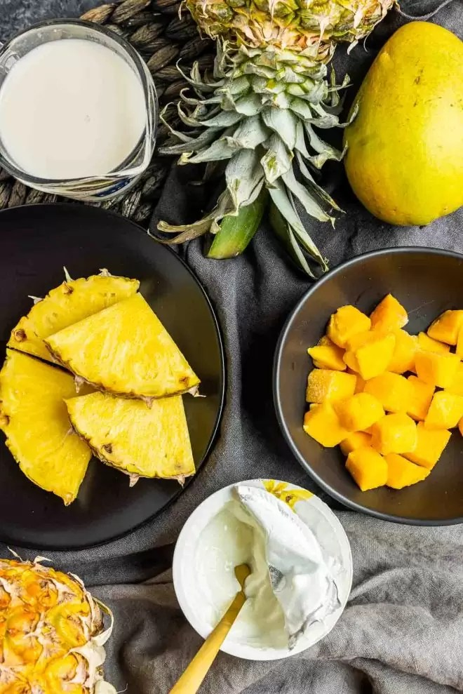 ingredients for Mango Pineapple Smoothie