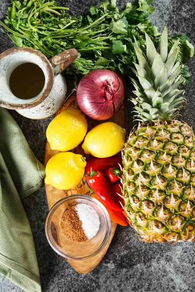 ingredients to make Pineapple Salsa