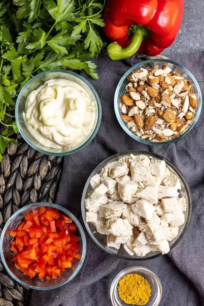 ingredients to make Curry Chicken Salad