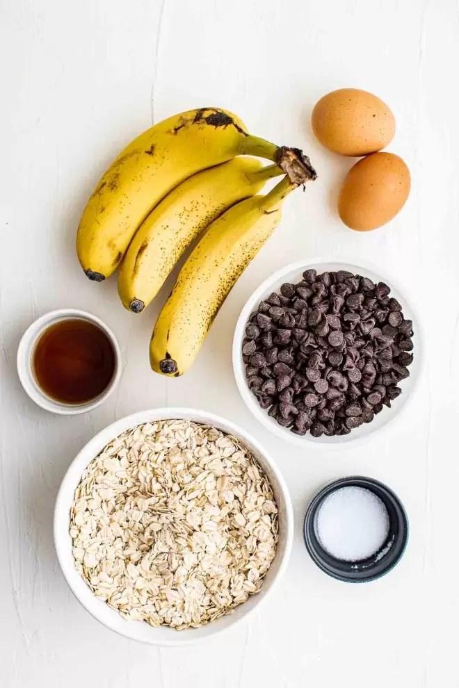 Healthy Oatmeal Cookies ingredients