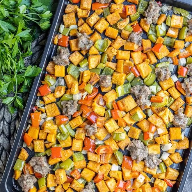 Sweet Potato Hash with peppers
