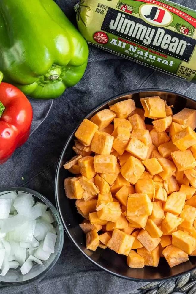 ingredients for Sweet Potato Hash