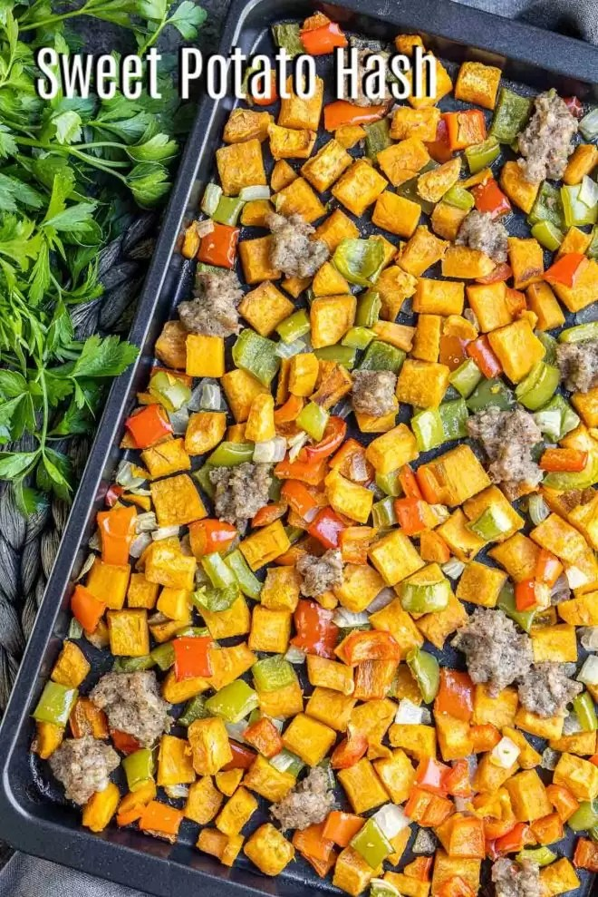 Pinterest image for Sweet Potato Hash with title text