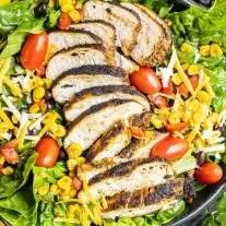 Blackened Chicken on a salad