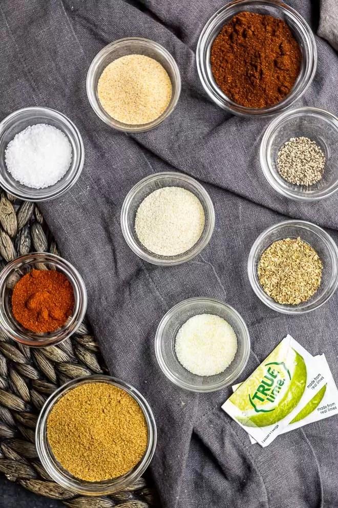 ingredients for Homemade Fajita Seasoning