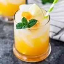 Passion Fruit Mojito in a glass
