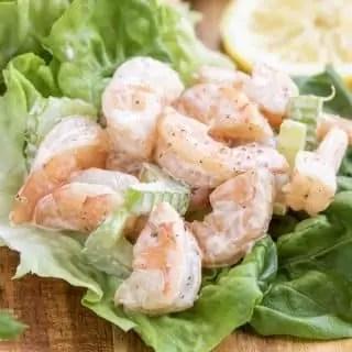 Shrimp Salad in a lettuce cup