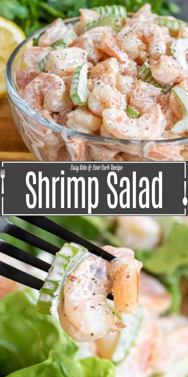 PInterest image of Shrimp Salad with title text