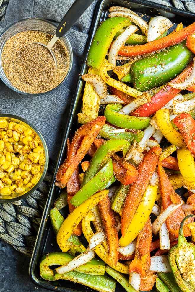 Veggie Fajitas ingredients