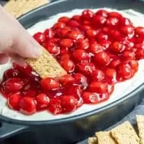 dipping into Cherry Cheesecake Dip