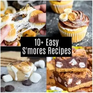 Collage of different smores recipes