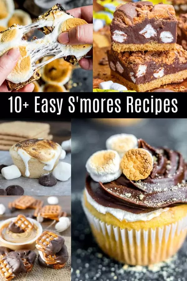 Pinterest image of The BEST S'mores Recipes with title text